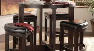 bar high kitchen table home pub with half circle and top set amazing round idea c03