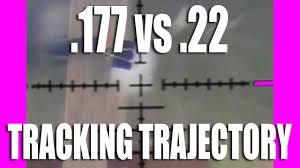 Tracking Trajectory 22 Vs 177 Airgun Pellets