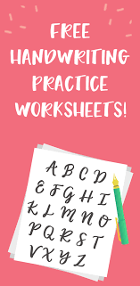 5 Free Handwriting Practice Worksheets - Productive & Pretty