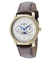 rotary men s moonphase watch brown 91jhf04 amazon co uk watches rotary men s moonphase watch brown 91jhf04