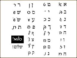 Comparison Block Script Hebrew Chart Print Fonts Script