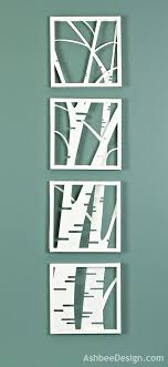 ashbee design birch tree shadow box simple and stunning and when i finally on cut canvas wall art tutorial with the 209 best laser cut ideas images on pinterest laser cutting