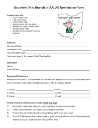 Nomination Packets Southern Ohio Branch Aalas
