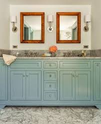 bathroom cabinets colors. Add Some Color To Your Bathroom Cabinets Like In This Massachusetts Farmhouse Designed By Architect Micahel T. Gray And Interior Designer Hattie Colors O