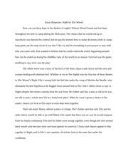 a third theme demonstrated in night was survivors guilt this theme  6 pages night essay