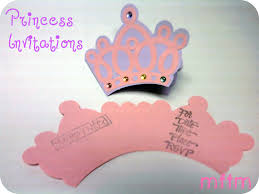 Princess Party Invitations Mine For The Making