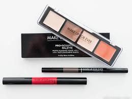 make up for ever pro sculpting palette lip brow1