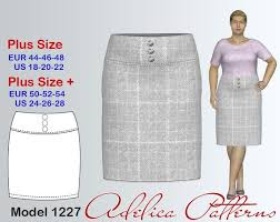 Plus Size Skirt Patterns Stunning Plus Size Pencil Yoke Skirt Sewing Pattern PDF Women's Etsy