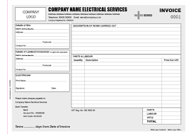 electrician invoice books personalised duplicate pads electrician a4 invoice book