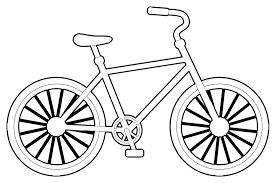 Bike clipart coloring pencil and in color