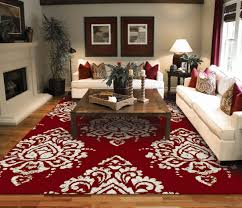 large red area rug designs