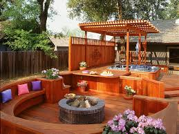 above ground pool with deck and hot tub. Creative Of Small Backyard Hot Tub Ideas 7 Sizzling Designs Outdoor  Design Landscaping Above Ground Pool With Deck And Hot Tub N