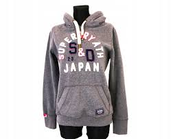 Superdry Size Chart Us Details About W Superdry Womens Hoodie Grey Int L