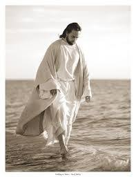 Image result for picture of christ foot walking on water