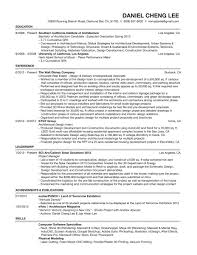 Architecture Resume Experience Leadership And Skills Writing