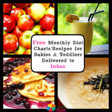 Free Monthly Food Chart For Babies Toddlers Delivered By