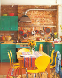 painting kitchen cabinets and even pieces of furniture in the kitchen give you the artistic license to incorporate your own colours to create a colourful