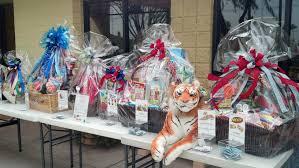 variety of custom gift baskets for fundraiser raffle