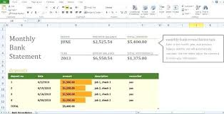Monthly Reconciliation Template Bank Reconciliation Template Monthly