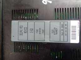 2001 2006 bmw x5 e53 3 0d fuse box fuses as pictured 2001 2006 bmw x5 3 0d e53 fuse box