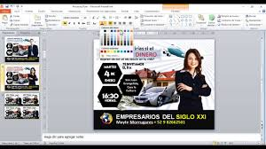 Como Hacer Flayers Flyer Empresarial Creado En Power Point