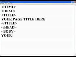 How To Create Html Web Page Using Notepad Youtube