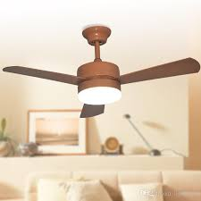 2018 european american le ceiling fans lights led 42 inches 107 cm three blade abs fans remote control indoor led ceiling fan lighting 110v 240v from