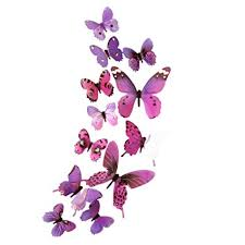 Kingfansion <b>12 PCS 3D Luminous</b> Butterfly Wall Stickers Decor Art ...