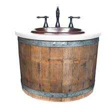 Bathroom Vanity Base Bordeaux Wine Barrel Wall Mounted Bathroom Vanity Base Native Trails