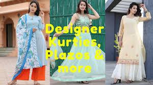 Kurti Plazo Design 2018 Latest Designer Kurties Plazo Suits Must Watch Video