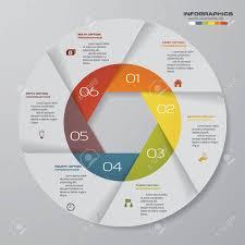 Modern Pie Chart Abstract 6 Steps Modern Pie Chart Infographics Elements Vector