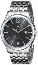 timex t2n848 wrist watch for men men elevated classics dress bronze dial silver tone expansion band watch