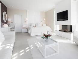 Small Bedroom Fireplaces Bedroom Sided Glass Fireplace Black White Chic Interior New York