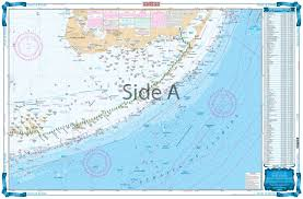 Key Largo Fishing Charts Straits Of Florida Offshore Fish And Dive Chart 10f