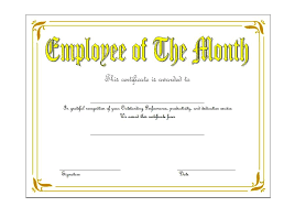Employee Recognition Awards Templates Iinan Co