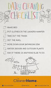 Kids Cleaning Checklist The Cleaner Home