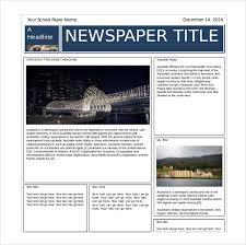 Newspaper Layout On Word 14 Word Newspaper Templates Free Download Free Premium