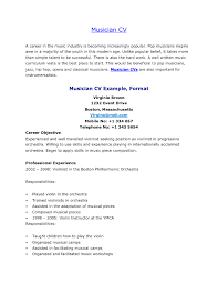 Resume Playing Music Singers And Musicians Resume Resume The Music Resume Examples 1