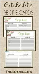 Printable Recipe Card Under Fontanacountryinn Com