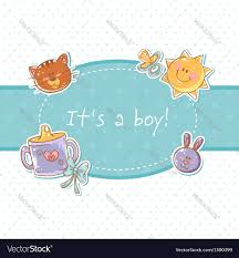 baby postcard baby born sweet boy congratulation postcard vector image