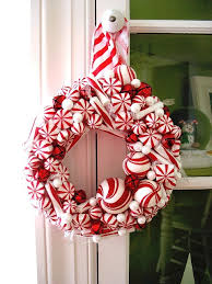 A Sweet Candy Cane Wreath For The Holidays  Martha StewartCandy Cane Wreath Christmas Craft