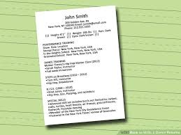 Resume Usa Interesting How To Write A Dance Resume With Sample Resume WikiHow
