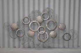 image of large metal wall art decor and sculptures
