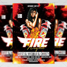 Club Flyer Templates Free Fire Night Flyer Club A5 Template