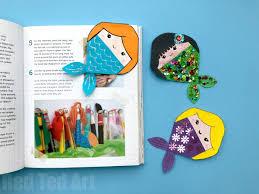 Design Bookmarks Mermaid Corner Bookmark Design Red Ted Art