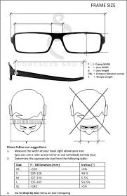 Glasses Size Chart Oliver Peoples Eyewear Denison Size Chart Eyewear Oliver