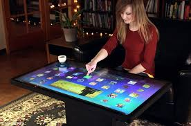 giant ideum touchscreen table will play