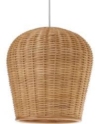 wicker pendant light. Kouboo LLC 10500 Pod Wicker Pendant Light - 1050032 A
