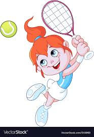 playing cartoon cartoon tennis player royalty free vector image