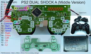 joystick controller pcb and wiring playstation 2 dual shock a middle version avoid